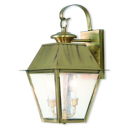 Livex Lighting Livex Lighting Mansfield Antique Brass Outdoor Wall Light 2165-01