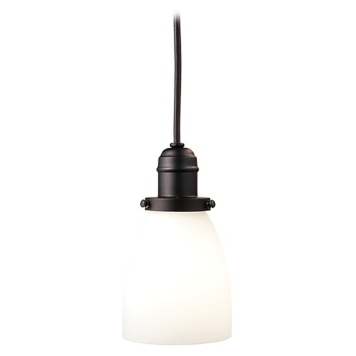 Hudson Valley Lighting Mini-Pendant Light with White Glass 3101-OB-348M