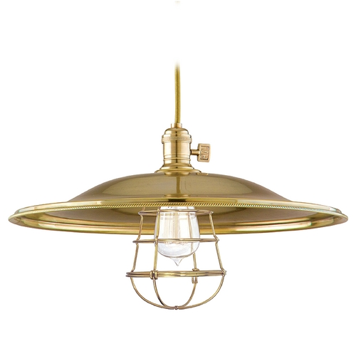 Hudson Valley Lighting Pendant Light in Aged Brass Finish 8001-AGB-ML2-WG