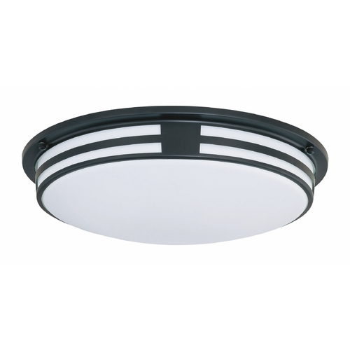 Lite Source Lighting Lite Source Lighting Vascello Black Flushmount Light LS-5396BLK/WHT