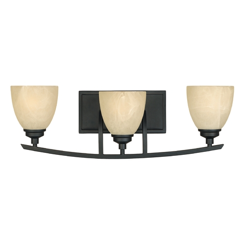 Designers Fountain Lighting Bathroom Light with Alabaster Glass in Burnished Bronze Finish 82903-BNB