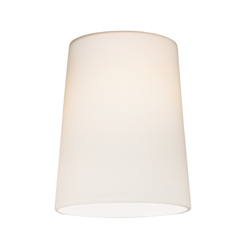 Design Classics Lighting Satin White Cone Glass Shade - Lipless with 1-5/8-Inch Fitter Opening GL1027