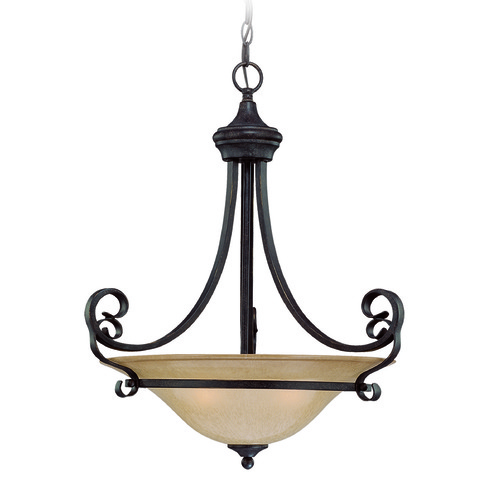 Jeremiah Lighting Jeremiah Stanton English Toffee Pendant Light with Bowl / Dome Shade 25143-ET