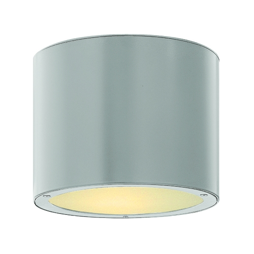 Hinkley Lighting Modern Close To Ceiling Light with Etched in Titanium Finish 1663TT
