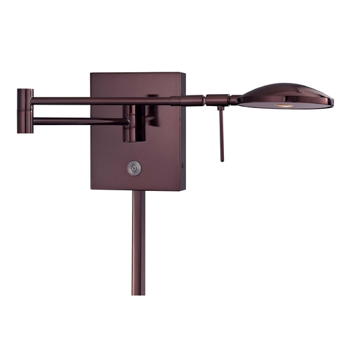 George Kovacs Lighting Modern LED Swing Arm Lamp in Chocolate Chrome Finish P4338-631
