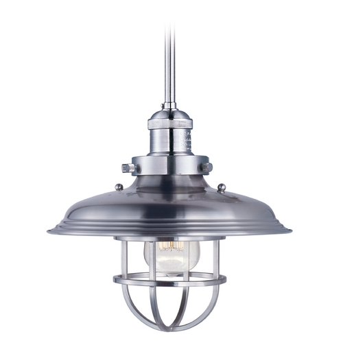 Maxim Lighting Maxim Lighting Mini Hi-Bay Satin Nickel Pendant Light 25051SN