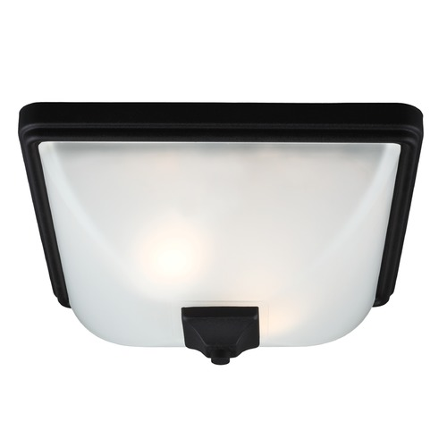 Sea Gull Lighting Sea Gull Lighting Irving Park Black Close To Ceiling Light 7828402BLE-12
