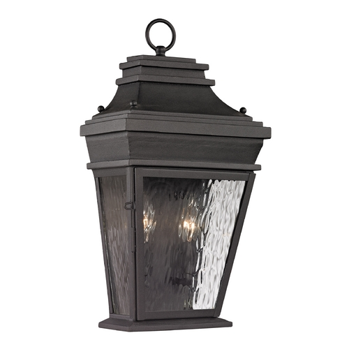 Elk Lighting Outdoor Wall Light with Clear Glass in Charcoal Finish 47052/2