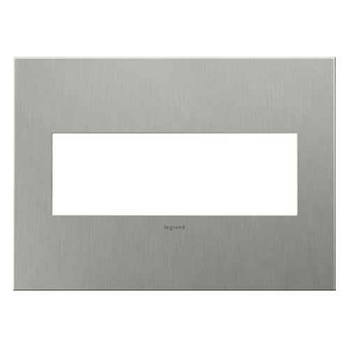 Legrand Adorne Legrand Adorne Brushed Stainless Steel 3-Gang Switch Plate AWC3GBS4