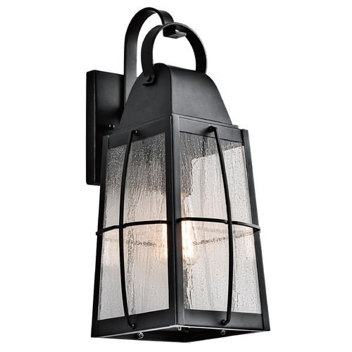 Kichler Lighting Kichler Lighting Tolerand Textured Black Outdoor Wall Light 49553BKT