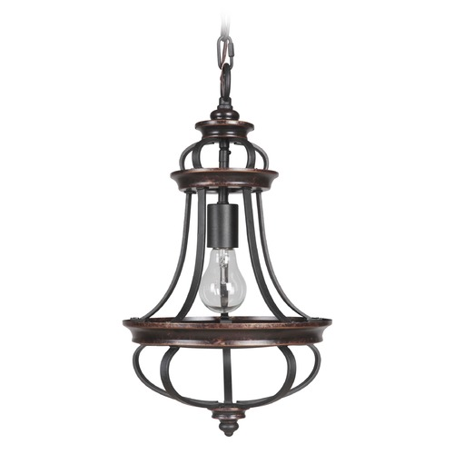 Jeremiah Lighting Jeremiah Lighting Stafford Aged Bronze/textured Black Mini-Pendant Light 38791-AGTB