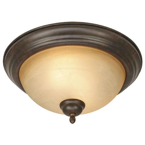 Golden Lighting Golden Lighting Riverton Peppercorn Flushmount Light 1567-13 PC