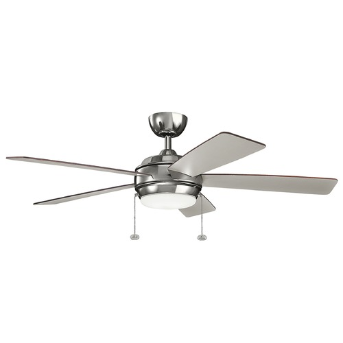 Kichler Lighting Kichler Lighting Starkk Polished Nickel LED Ceiling Fan with Light 330174PN