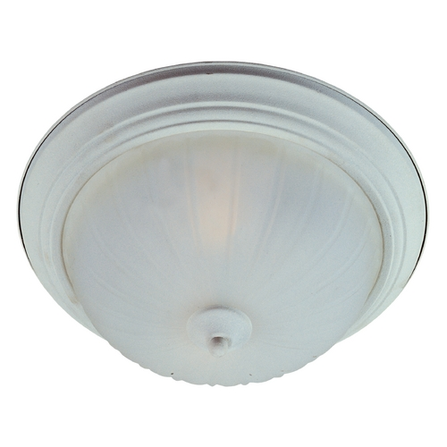 Maxim Lighting Flushmount Light with White Glass in Textured White Finish 5830FTTW