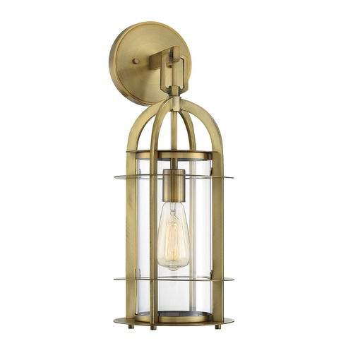 Savoy House Savoy House Lighting Merrill Warm Brass Outdoor Wall Light 5-801-322