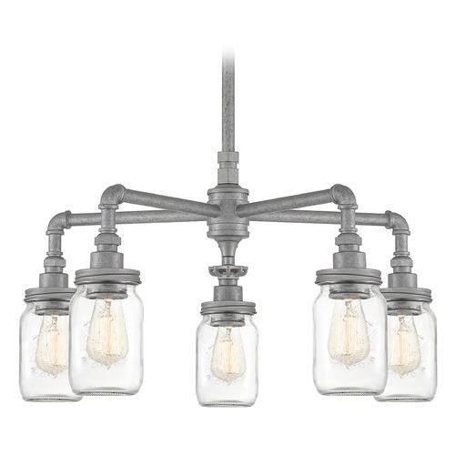 Quoizel Lighting Quoizel Lighting Squire Galvanized Chandelier SQR5005GV