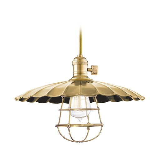 Hudson Valley Lighting Pendant Light in Aged Brass Finish 8001-AGB-ML3-WG
