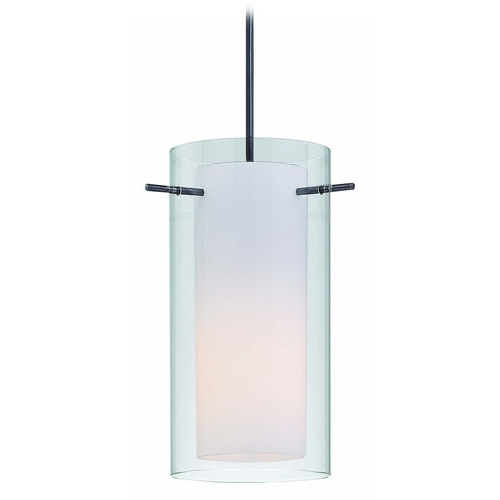 Lite Source Lighting Modern Mini-Pendant Light with White Glass LS-19772