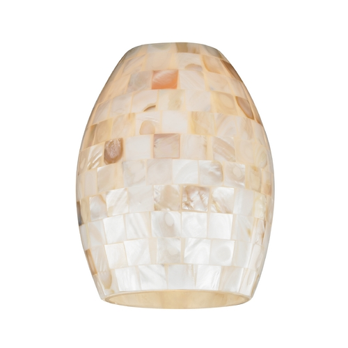 Design Classics Lighting Mosaic Oblong Glass Shade - Lipless with 1-5/8-Inch Fitter Opening GL1034