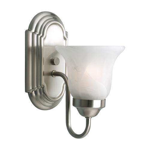 Progress Lighting Progress Sconce Wall Light with Alabaster Glass P3051-09
