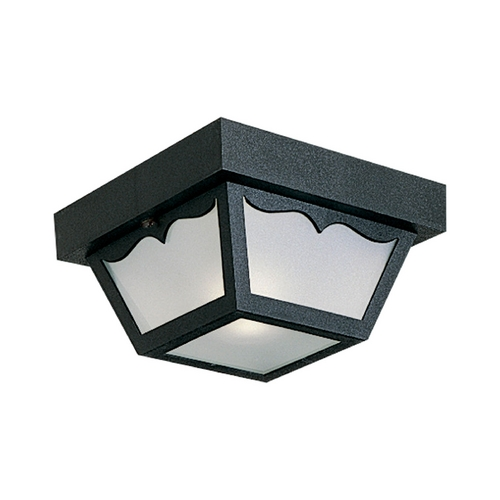 Progress Lighting Progress Close To Ceiling Light with White in Black Finish P5744-31