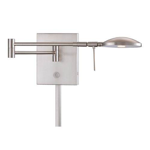 George Kovacs Lighting Modern LED Swing Arm Lamp in Brushed Nickel Finish P4338-084