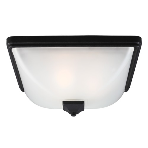 Sea Gull Lighting Sea Gull Lighting Irving Park Black Close To Ceiling Light 7828403BLE-12