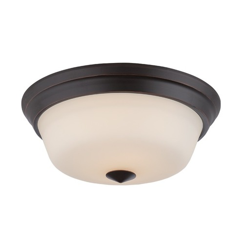 Nuvo Lighting Nuvo Lighting Calvin Mahogany Bronze LED Flushmount Light 62/373