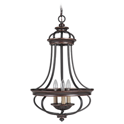 Craftmade Lighting Craftmade Stafford Aged Bronze/textured Black Pendant Light 38733-AGTB
