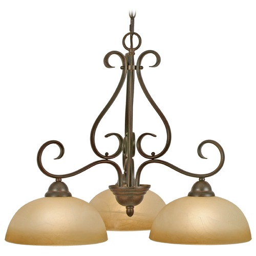 Golden Lighting Golden Lighting Riverton Peppercorn Chandelier 1567-ND3 PC