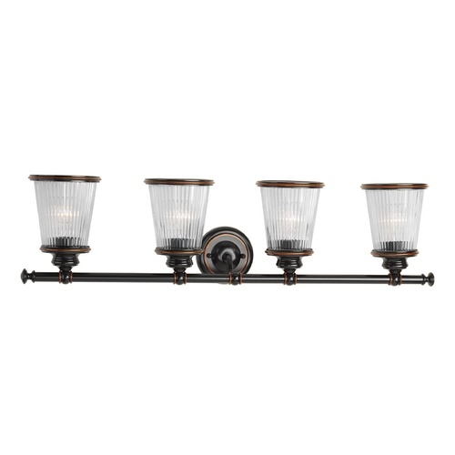 Progress Lighting Progress Lighting Radiance Rubbed Bronze Bathroom Light P2172-139