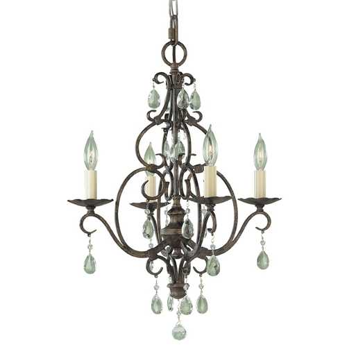 Feiss Lighting Mini-Chandelier in Mocha Bronze Finish F1904/4MBZ