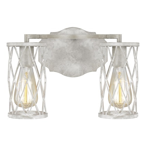 Feiss Lighting Feiss Lighting Cosette French Washed Oak / Distressed White Wood Bathroom Light VS2482FWO/DWW