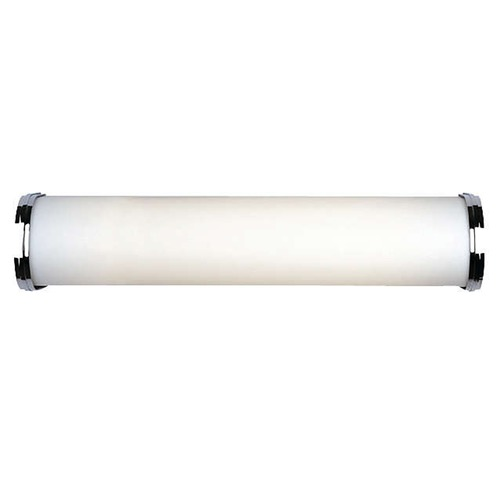 Philips Lighting Modern Bathroom Light with White Glass in Satin Nickel Finish F325236U