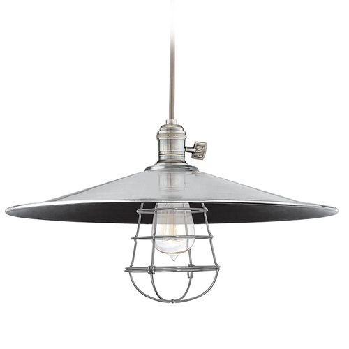 Hudson Valley Lighting Pendant Light in Historic Nickel Finish 8001-HN-ML1-WG