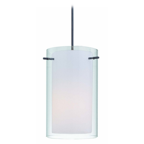 Lite Source Lighting Modern Mini-Pendant Light with White Glass LS-19773