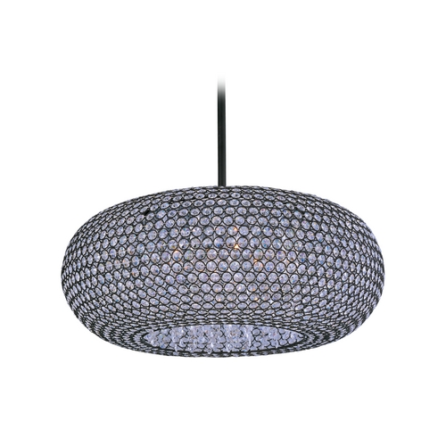 Maxim Lighting Maxim Lighting Glimmer Bronze Pendant Light with Oblong Shade 39879BCBZ