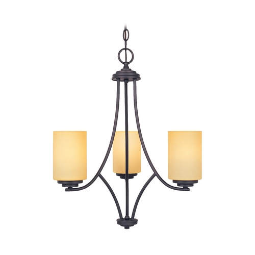 Designers Fountain Lighting Chandelier with Beige / Cream Glass in Oil Rubbed Bronze Finish 83283-ORB
