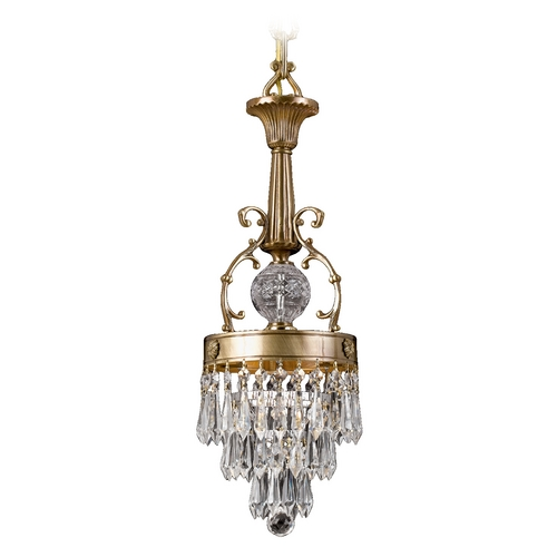 Crystorama Lighting Crystal Mini-Pendant Light 5275-AG-CL-MWP