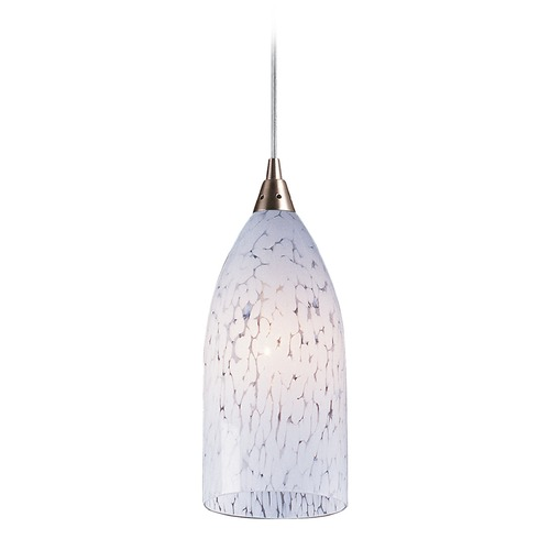 Elk Lighting Elk Lighting Verona Satin Nickel LED Mini-Pendant Light with Bowl / Dome Shade 502-1SW-LED
