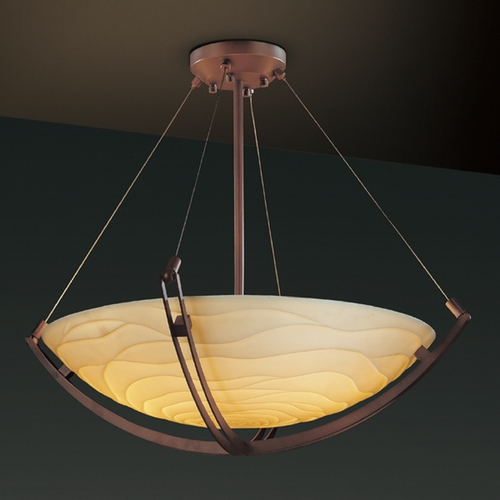 Justice Design Group Justice Design Group Porcelina Collection Pendant Light PNA-9727-35-WAVE-DBRZ