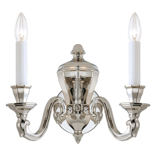 Metropolitan Lighting Sconce Wall Light in Polished Nickel Finish N1118-613