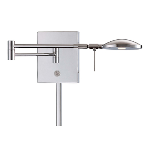 George Kovacs Lighting Modern LED Swing Arm Lamp in Chrome Finish P4338-077