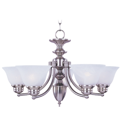 Maxim Lighting Maxim Lighting Malaga Satin Nickel Chandelier 2684FTSN