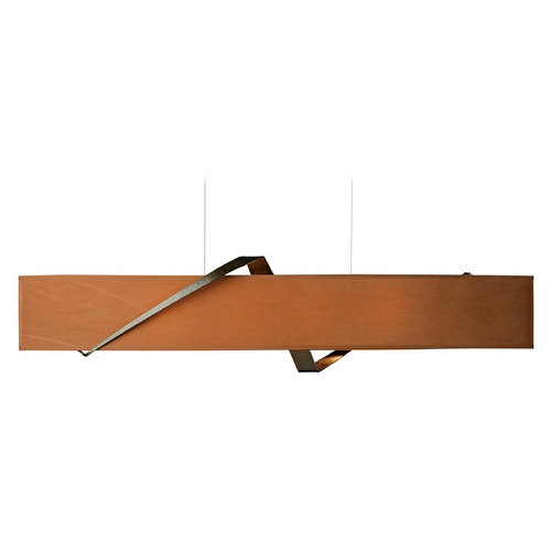 Hubbardton Forge Lighting Hubbardton Forge Lighting Stream Bronze Island Light with Oval Shade 137680-05-643