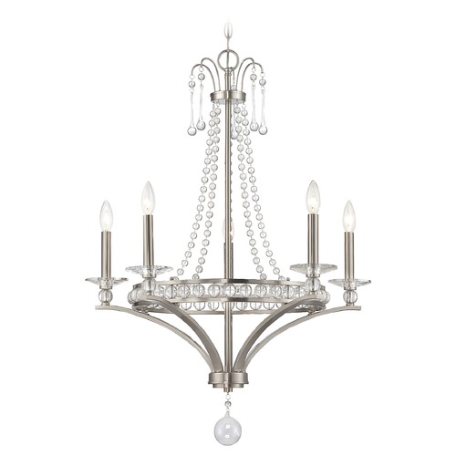 Savoy House Savoy House Lighting Alana Satin Nickel Chandelier 1-400-5-SN