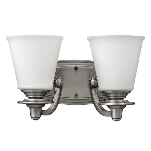 Hinkley Lighting Hinkley Lighting Plymouth Polished Antique Nickel Bathroom Light 54262PL