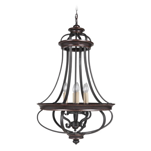 Craftmade Lighting Craftmade Stafford Aged Bronze/textured Black Pendant Light 38736-AGTB