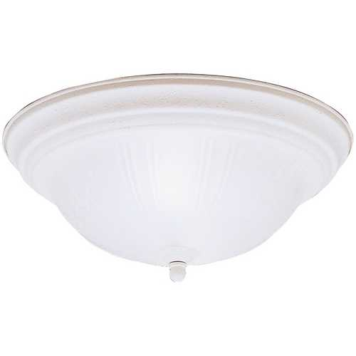 Kichler Lighting Kichler Flushmount Light with White Glass in Stucco White Finish 8654SC