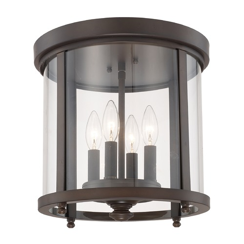 Capital Lighting Capital Lighting Capital Ceilings Burnished Bronze Flushmount Light 214141BB